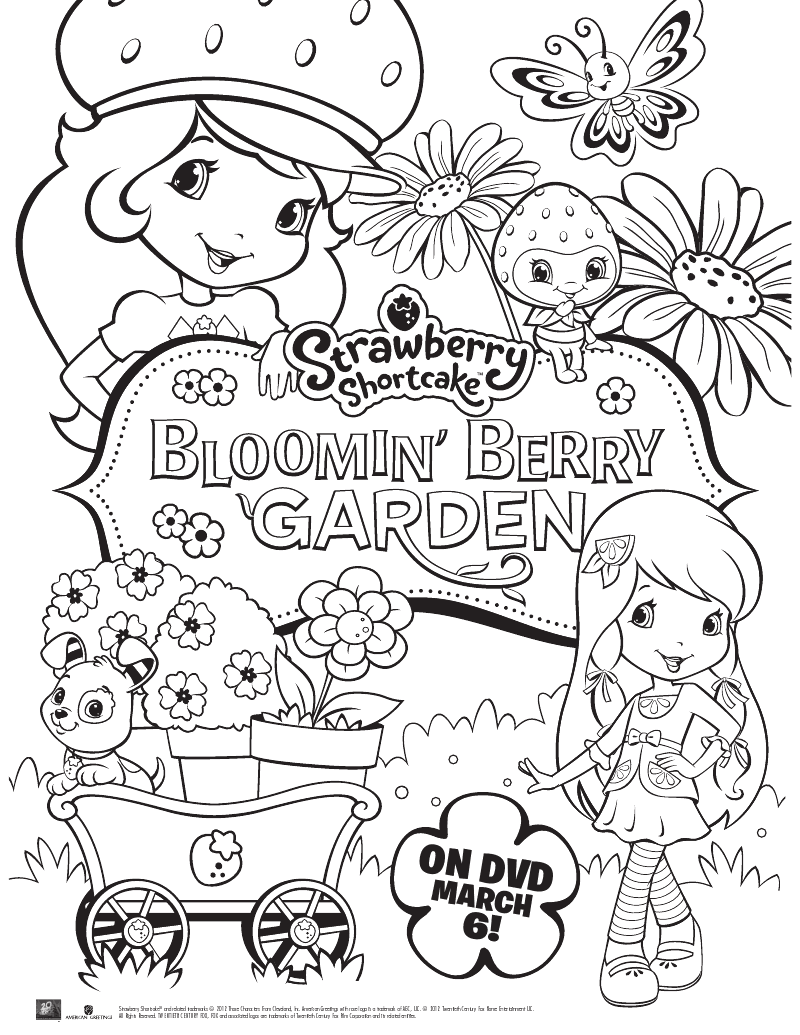 image relating to Strawberry Shortcake Printable Coloring Pages titled Strawberry Shortcake Printable Coloring Web site Mama Likes This