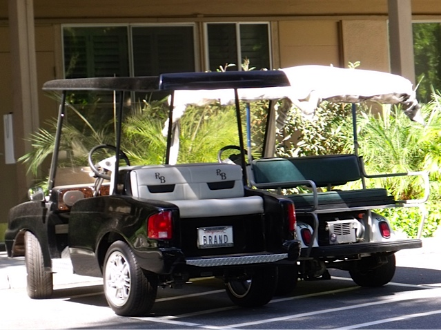 Russell Brand's Golf Cart