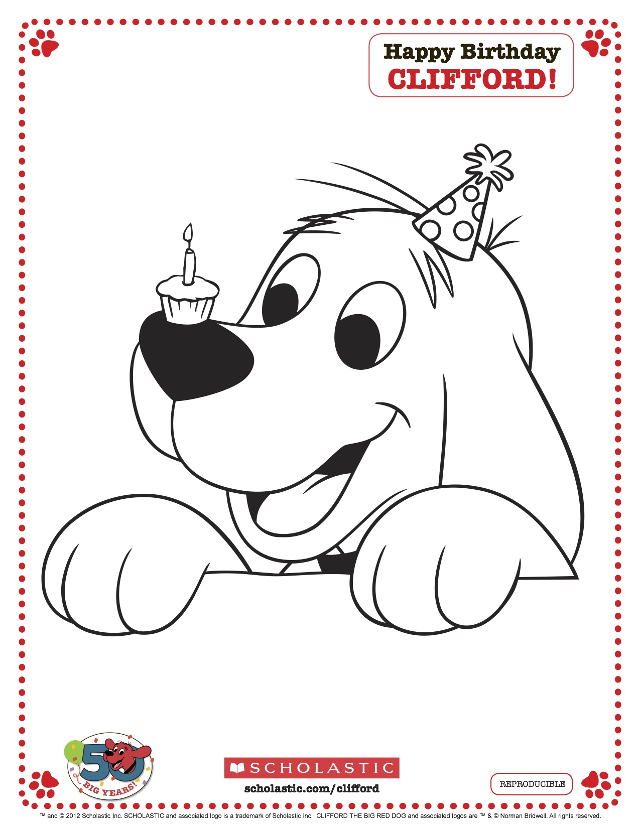 printable clifford coloring pages - photo#13
