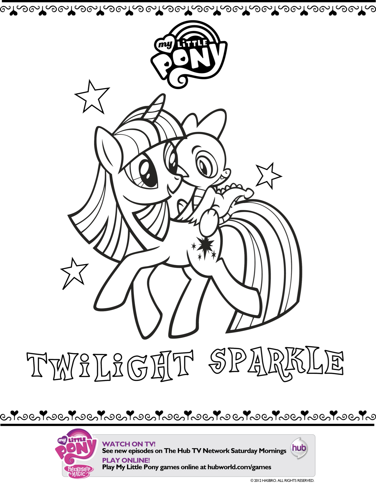 My Little Pony Twilight Sparkle Printable Coloring Page ...