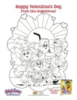Oogieloves Valentines Printable Coloring Page
