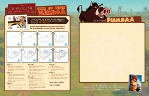 Lion King - How to Draw Pumbaa