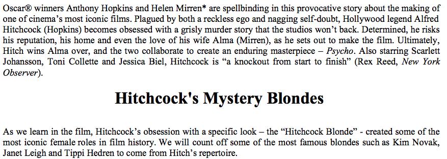 Hitchcock intro