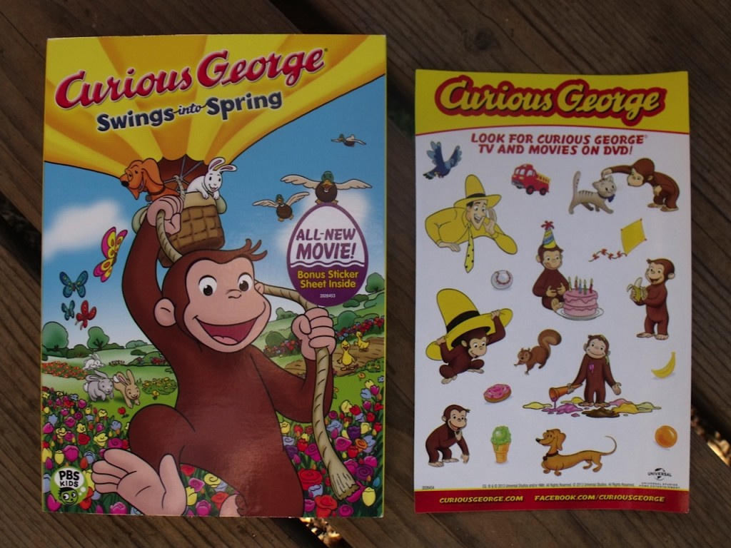 Curious George DVD and stickers