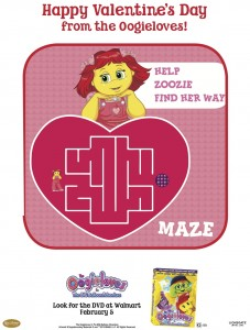 Oogieloves Printable Valentine's Day Maze