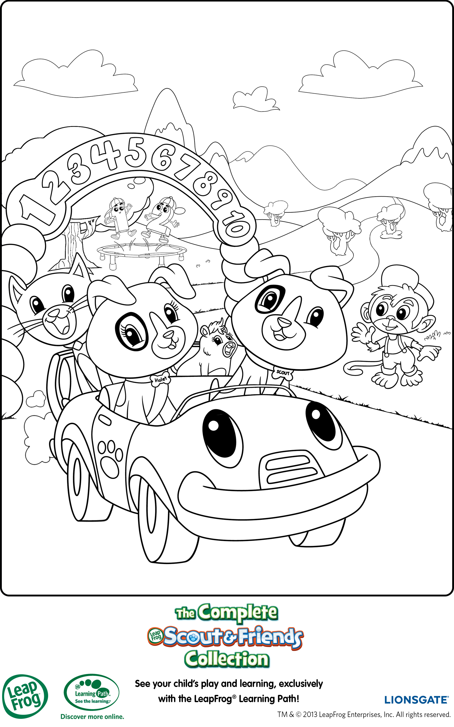 It's just an image of Sly leap coloring pages