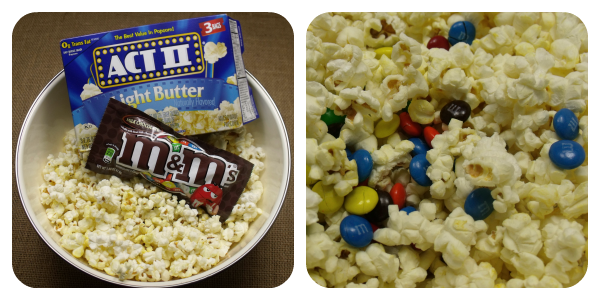Sweet and Salty  M&M's Popcorn