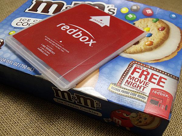 M&M's Ice Cream Cookies and RedBox Movie Rental