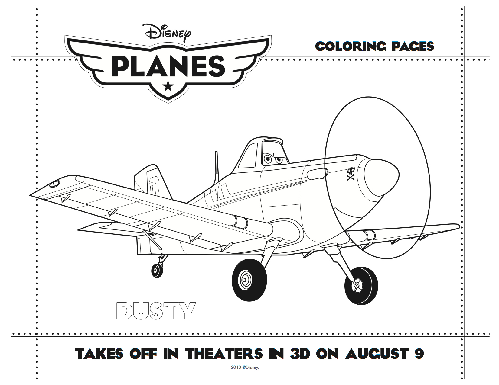 Dusty Coloring Sheets Dusty Coloring Sheet