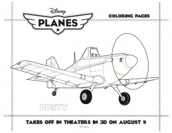 Disney Planes Printable Dusty Coloring Sheet