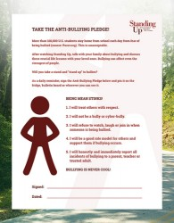 Printable Anti-Bullying Pledge