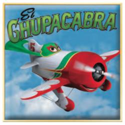 Disney Planes El Chupacabra Printable Paper Airplane Craft