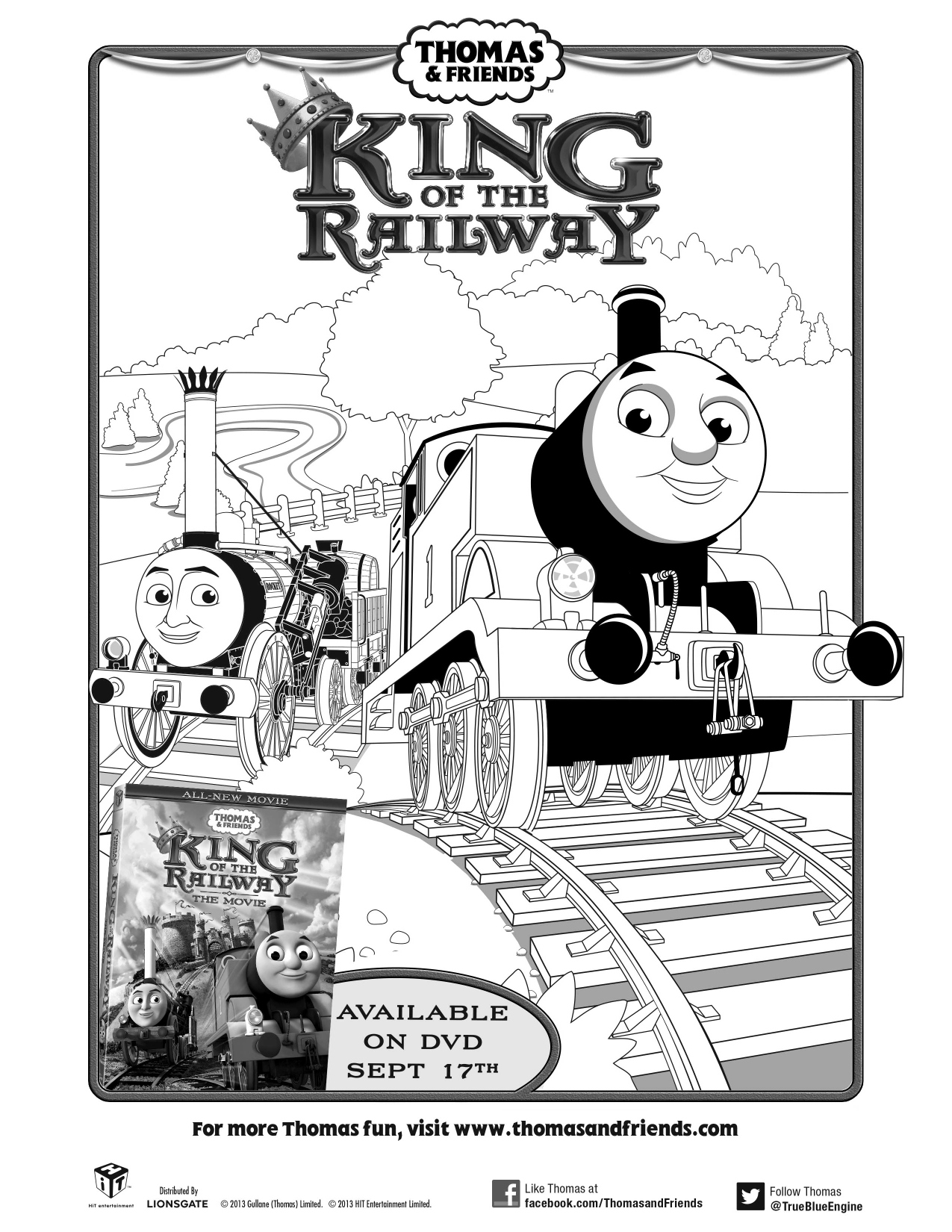 Thomas friends king of the railway the movie printable for Emily the tank engine coloring pages