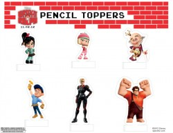 Wreck It Ralph Printable Pencil Toppers Back to School Craft