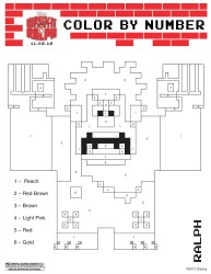 Wreck It Ralph Printable Color by Number