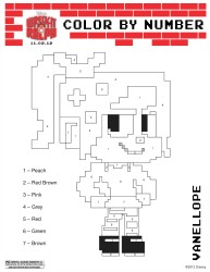 Wreck It Ralph Printable Vanellope Color By Number