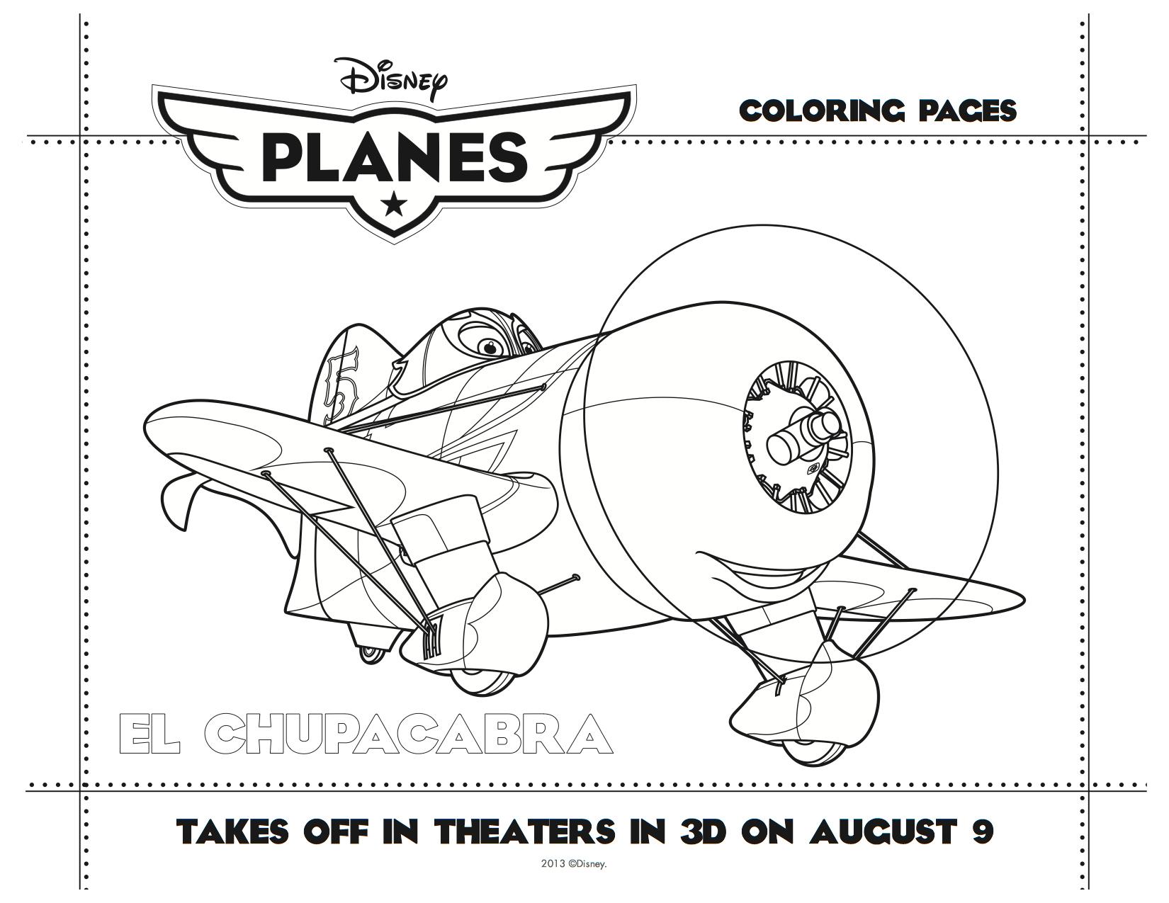 Disney Planes Printable El Chupacabra Coloring Sheet ...