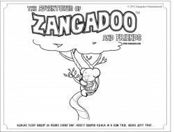 Zangadoo Printable Koala Bear Coloring Sheet