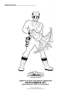 Power Rangers Megaforce Blue Ranger Printable Coloring Sheet
