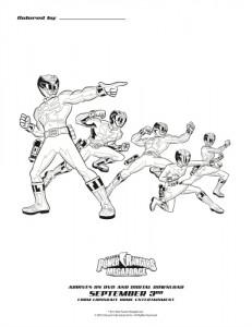 Power Rangers Megaforce Printable Coloring Sheet