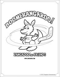 Zangadoo Kangaroo Printable Coloring Sheet