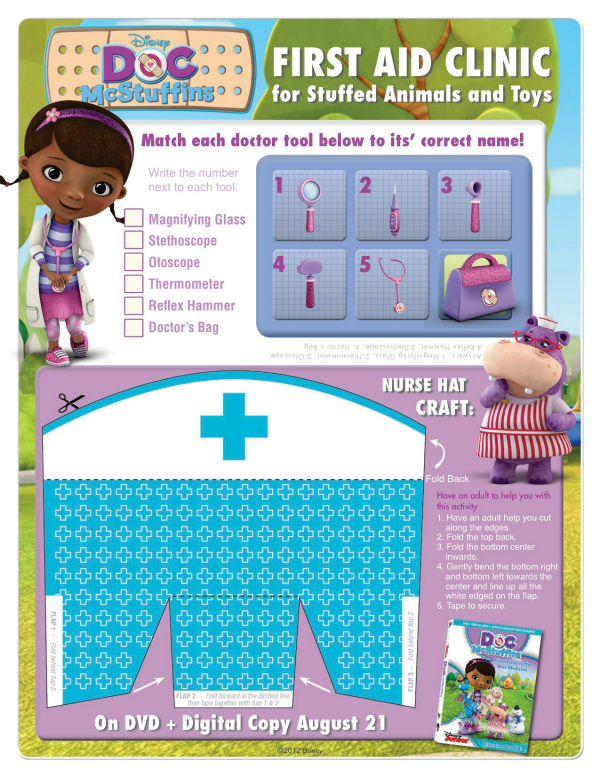 photograph relating to Printable Nurse Hat named Document McStuffins Printable Nurse Hat Craft Mama Likes This