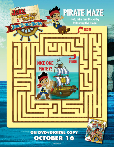 Jake and the Neverland Pirates Printable Maze