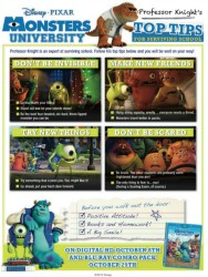 Disney Pixar Monsters University Back to School Tips