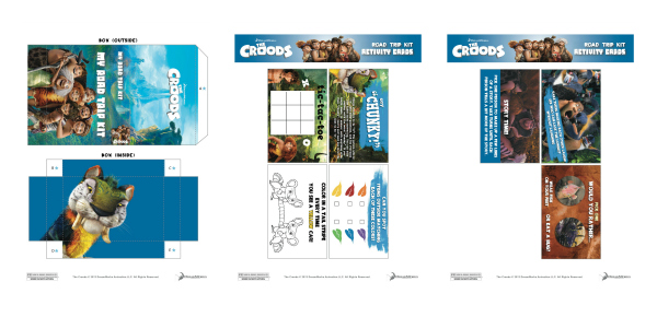 The Croods Road Trip Kit Printable Craft