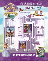 Disney Sofia the First Ready to Be A Princess Printable Maze