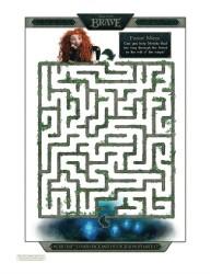 Disney Printable Brave Forest Maze