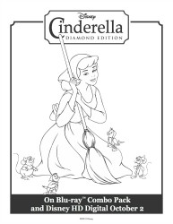 Cinderella Doing Her Chores - Printable Coloring Sheet