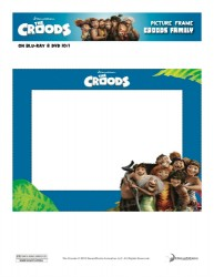 The Croods Family Printable Picture Frame Craft