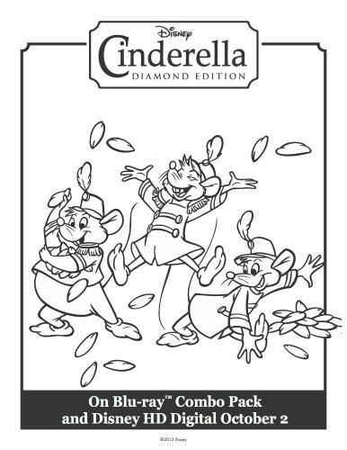 Cinderella's Mice Printable Coloring Sheet
