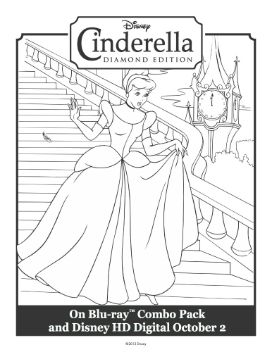 Cinderella Printable Coloring Sheet