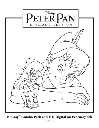 Disney Printable Peter Pan & Tinkerbell Coloring Sheet