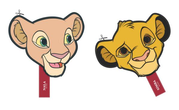 Simba & Nala Printable Masks
