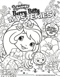 Strawberry Shortcake Printable Coloring Sheet