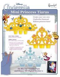 Printable Disney Craft - Cinderella Tiaras