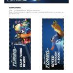 Turbo Printable Bookmarks