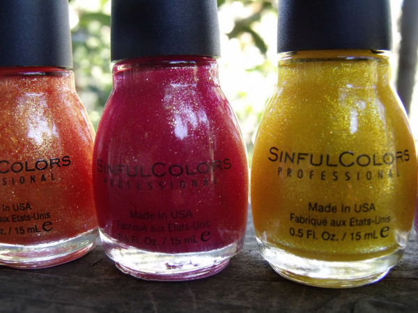SinfulColors Crystal Crush Nail Polish Collection