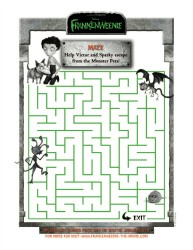 Frankenweenie Printable Victor and Sparky Maze