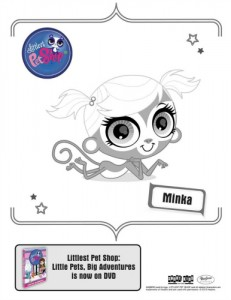 Littlest Pet Shop Printable Minka Coloring Page