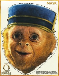 Oz The Great And Powerful Printable Monkey Mask