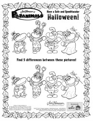 Jim Henson's Pajanimals Halloween Coloring Page
