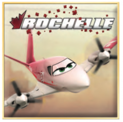 Disney Planes Printable Rochelle Paper Airplane Craft