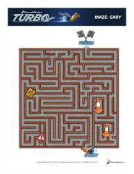 Turbo Printable Maze - Easy