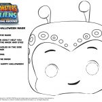 Monsters vs. Aliens Sqweep Mask Printable Craft