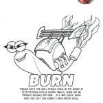 Turbo Printable Coloring Page – Burn