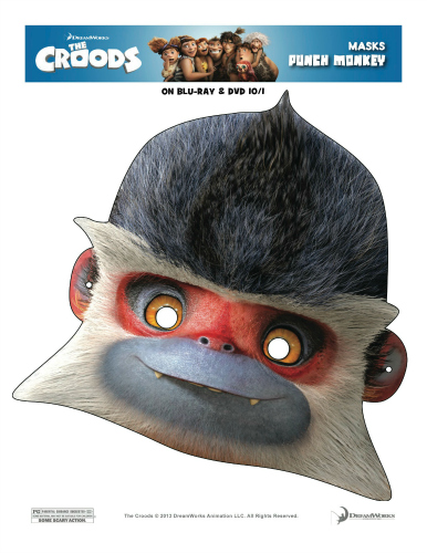 The Croods Printable Punch Monkey Mask